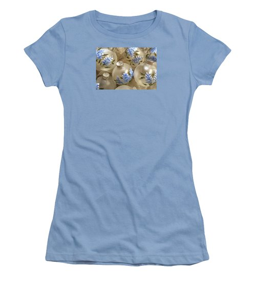 Women's T-Shirt (Junior Cut) featuring the photograph Texas Bluebonnet Ornaments by Betty Denise