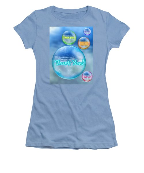 Thank You Bubbles Women's T-Shirt (Athletic Fit)