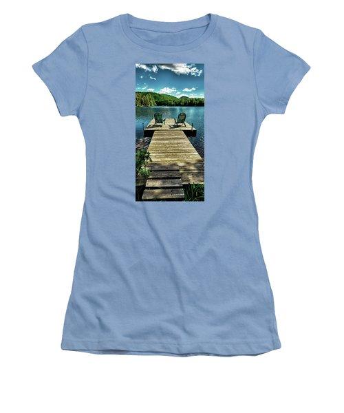 The Adirondacks Women's T-Shirt (Junior Cut) by David Patterson