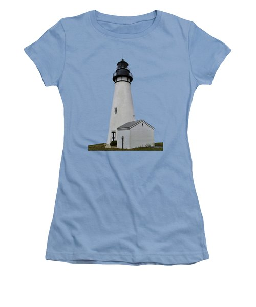 The Amelia Island Lighthouse Transparent For Customization Women's T-Shirt (Athletic Fit)