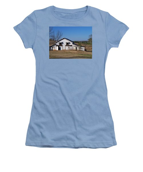 Women's T-Shirt (Junior Cut) featuring the photograph The Barn by Betty Northcutt
