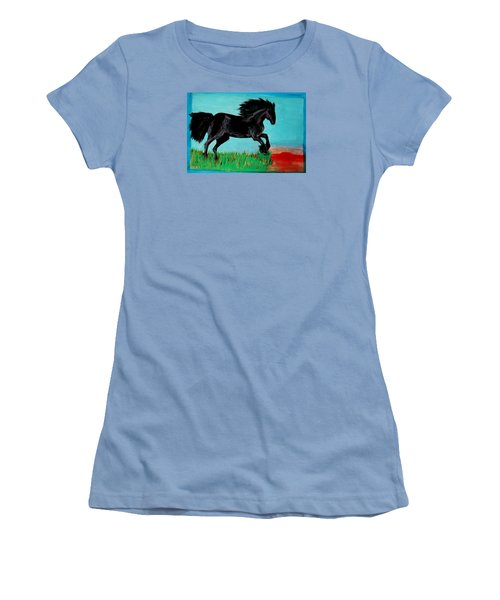 The Black Stallion Women's T-Shirt (Athletic Fit)
