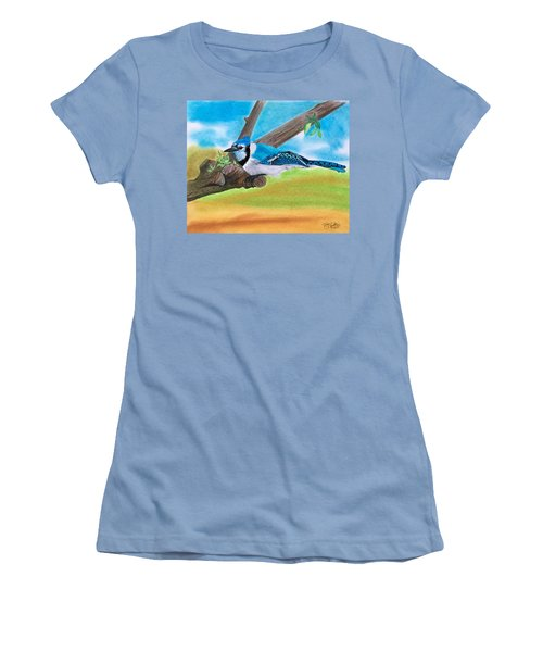 The Blue Jay  Women's T-Shirt (Athletic Fit)