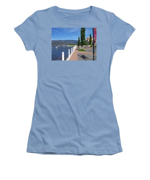 The Boardwalk In Kelowna   Women's T-Shirt (Junior Cut) by Rod Jellison