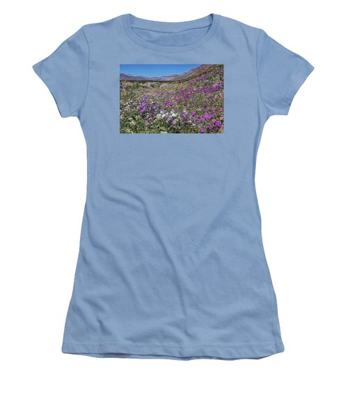 Women's T-Shirt (Junior Cut) featuring the photograph The Colors Of Spring Super Bloom 2017 by Peter Tellone