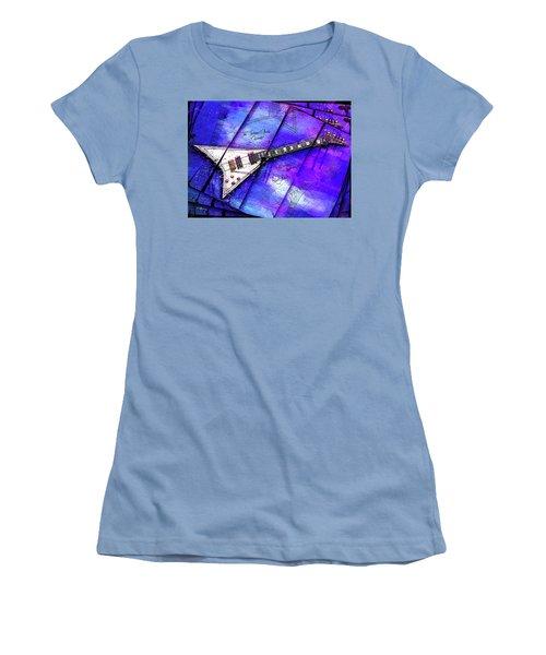 The Concorde On Blue Women's T-Shirt (Junior Cut) by Gary Bodnar