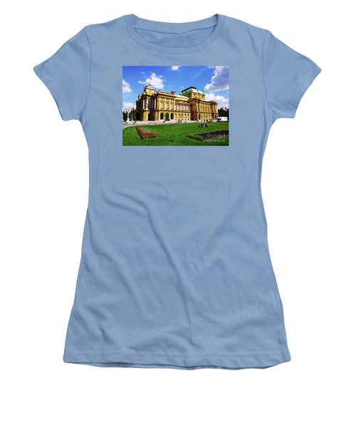 The Croatian National Theater In Zagreb, Croatia Women's T-Shirt (Junior Cut) by Jasna Dragun