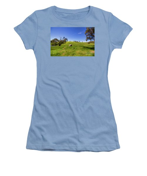 The Distant Hill Women's T-Shirt (Junior Cut) by Douglas Barnard