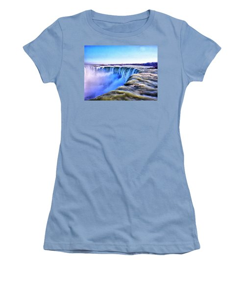 The Edge Of The World Women's T-Shirt (Athletic Fit)