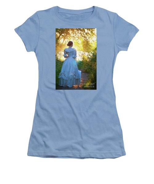 The Evening Walk Women's T-Shirt (Junior Cut) by Lee Avison