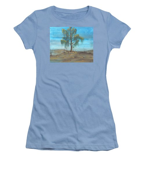 Women's T-Shirt (Junior Cut) featuring the painting The Feather Tree by Pat Purdy