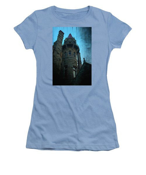 The Haunted Tower Women's T-Shirt (Junior Cut) by Keith Boone