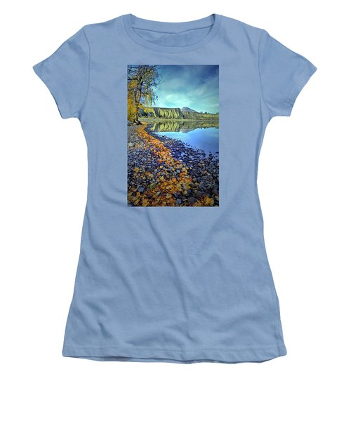 Women's T-Shirt (Junior Cut) featuring the photograph The Hoodoos And Highway 97 by Tara Turner