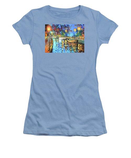 The Lights Of The Sleeping City Women's T-Shirt (Junior Cut) by Dmitry Spiros