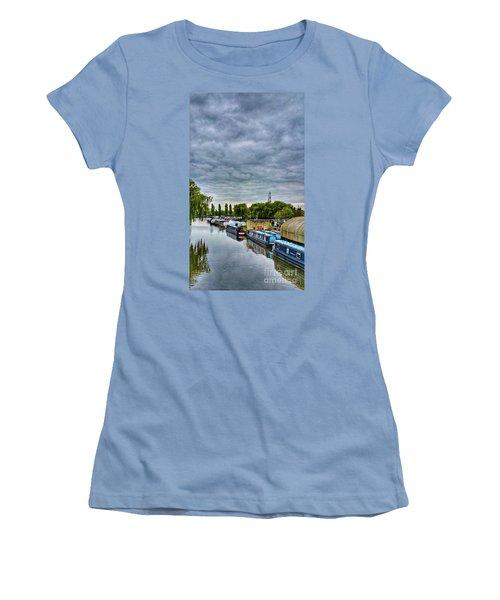 Women's T-Shirt (Junior Cut) featuring the photograph The Marina by Isabella F Abbie Shores FRSA