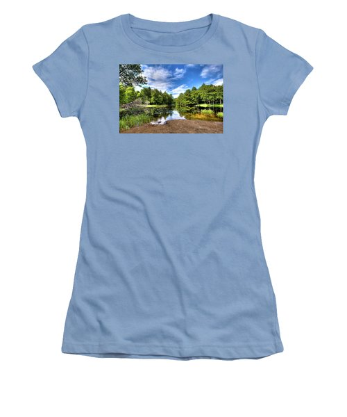 Women's T-Shirt (Athletic Fit) featuring the photograph The Moose River At Covewood by David Patterson