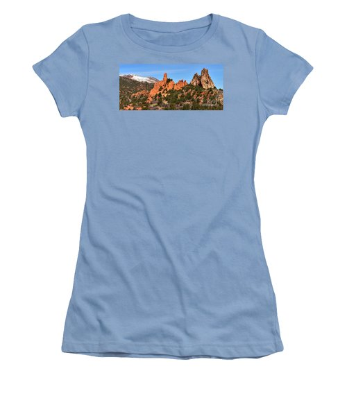 Women's T-Shirt (Junior Cut) featuring the photograph The High Point View by Adam Jewell