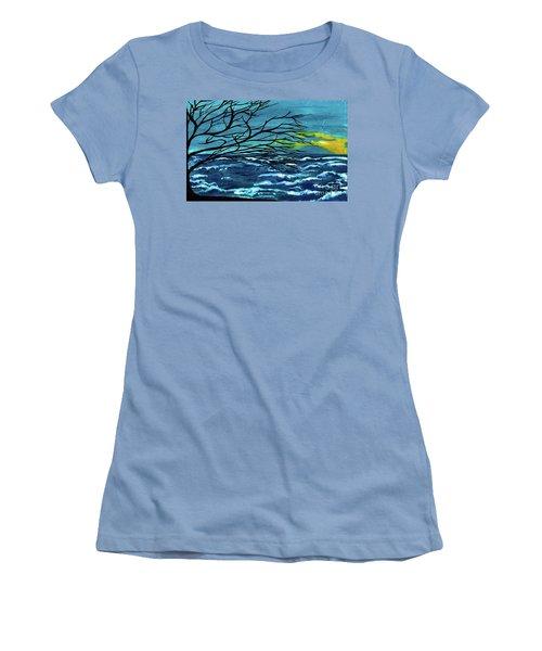 The Ocean Women's T-Shirt (Junior Cut) by Saribelle Rodriguez