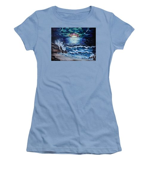 The Ocean Sings The Sky Listens Women's T-Shirt (Junior Cut) by Cheryl Pettigrew