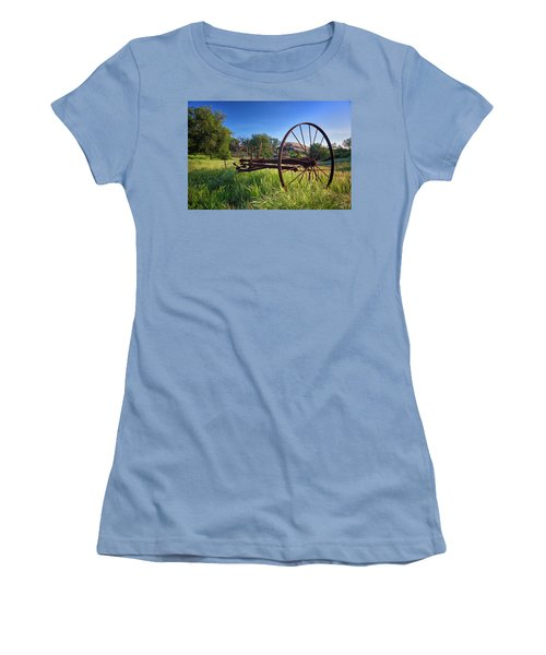 The Old Mower 2 Women's T-Shirt (Junior Cut) by Endre Balogh