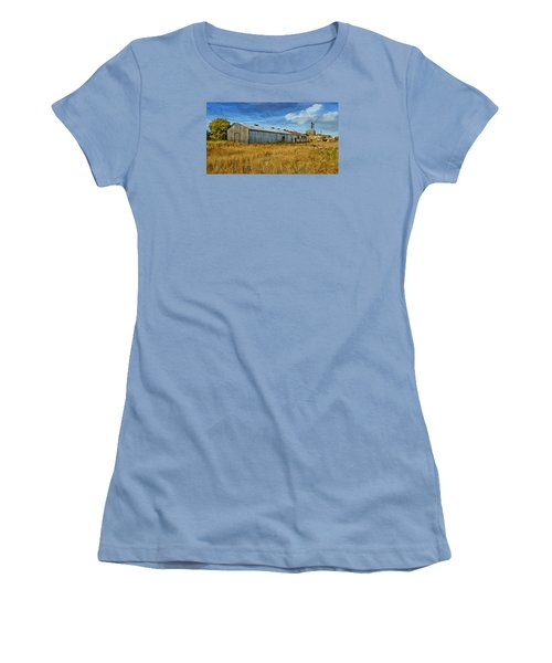 Women's T-Shirt (Junior Cut) featuring the photograph The Old Peters Factory 01 by Kevin Chippindall