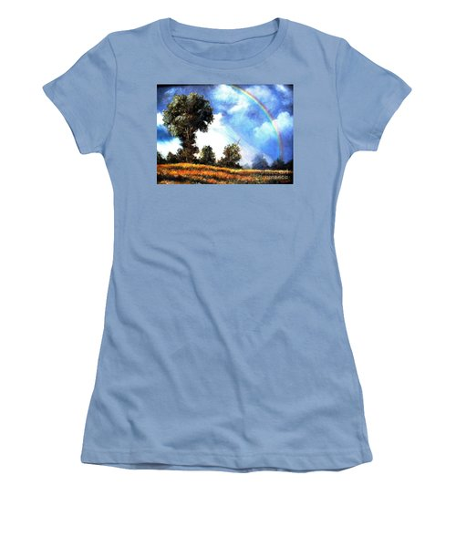 Women's T-Shirt (Junior Cut) featuring the painting The Promise  by Hazel Holland