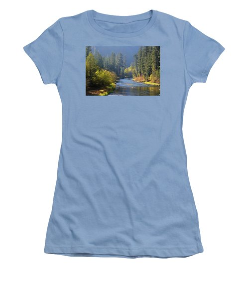 The River Runs Through Autumn Women's T-Shirt (Athletic Fit)