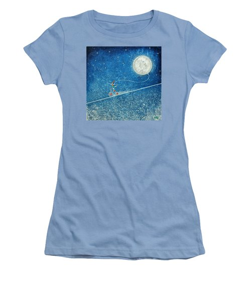 The Robbery Of The Moon Women's T-Shirt (Athletic Fit)