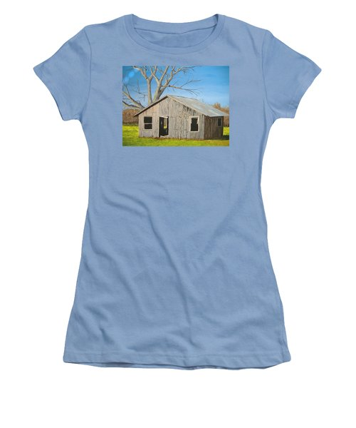 Women's T-Shirt (Junior Cut) featuring the painting The Shack by Norm Starks