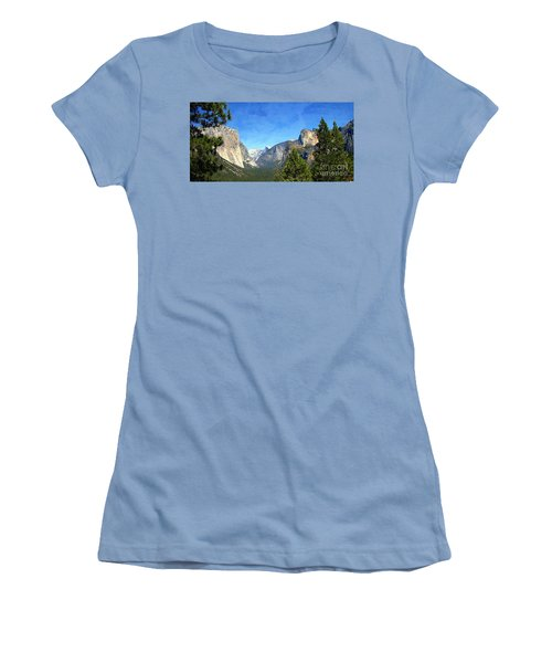 The Valley Of Inspiration-yosemite Women's T-Shirt (Junior Cut) by Glenn McCarthy Art and Photography