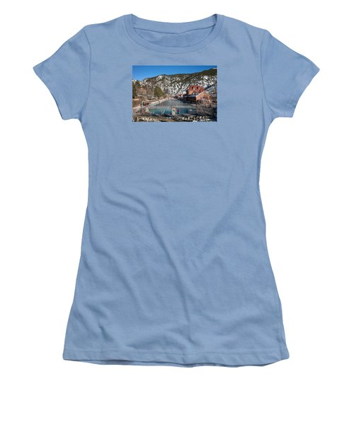 The World's Largest Hot-springs Pool At The Spa Of The Rockies In Glenwood Springs Women's T-Shirt (Junior Cut) by Carol M Highsmith