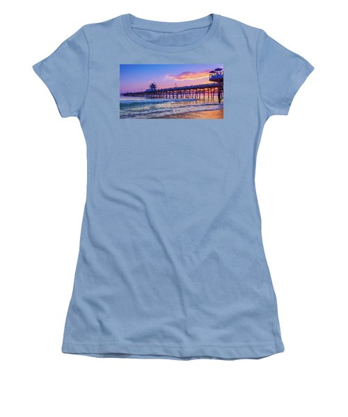 There Will Be Another One - San Clemente Pier Sunset Women's T-Shirt (Athletic Fit)