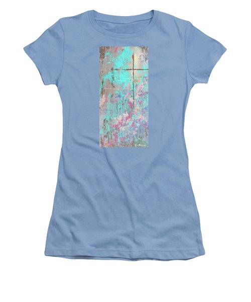 This Side Of The Cross Women's T-Shirt (Junior Cut) by Karen Kennedy Chatham