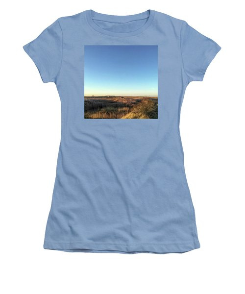 Thornham Marsh Lit By The Setting Sun Women's T-Shirt (Athletic Fit)