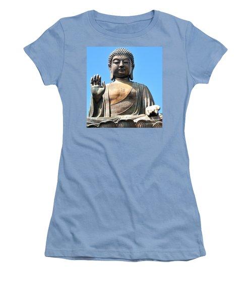 Tian Tan Buddha Women's T-Shirt (Junior Cut) by Joe  Ng