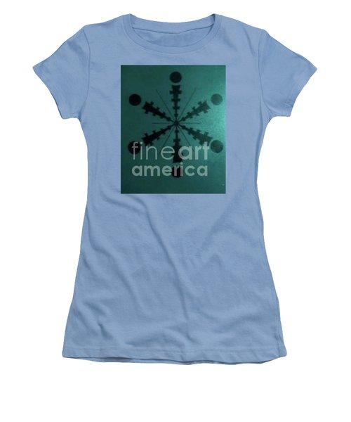 Tibetan I-eye Wheel Women's T-Shirt (Junior Cut) by Talisa Hartley
