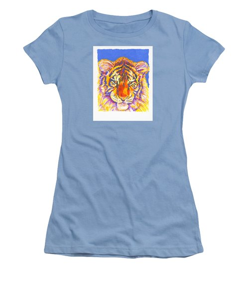 Women's T-Shirt (Junior Cut) featuring the painting Tiger by Stephen Anderson