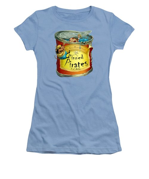 Tinned Pirates Women's T-Shirt (Junior Cut) by Andy Catling