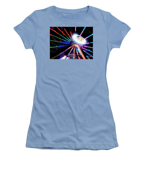 Trail Of Lights Abstract #7486 Women's T-Shirt (Athletic Fit)