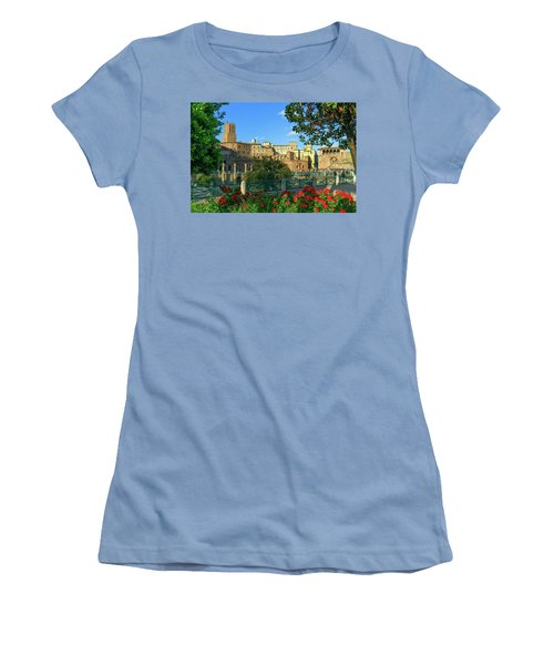 Trajan's Forum, Traiani, Roma, Italy Women's T-Shirt (Athletic Fit)