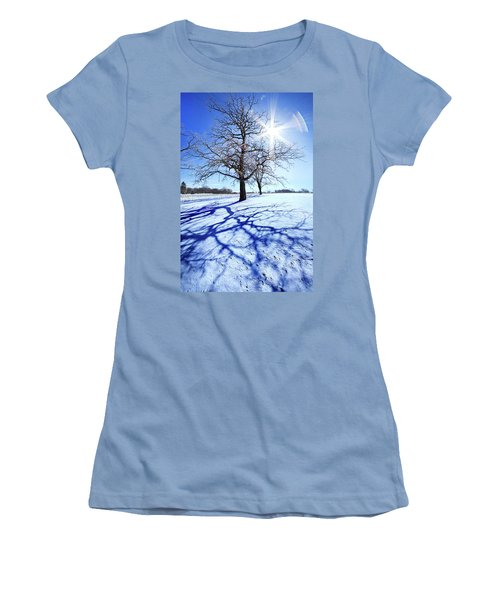Women's T-Shirt (Junior Cut) featuring the photograph Tree Light by Phil Koch