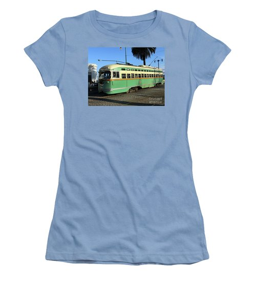 Women's T-Shirt (Junior Cut) featuring the photograph Trolley Number 1058 by Steven Spak