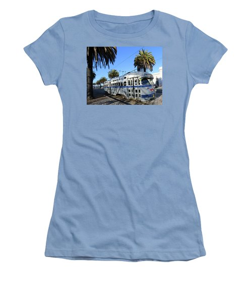 Women's T-Shirt (Junior Cut) featuring the photograph Trolley Number 1070 by Steven Spak
