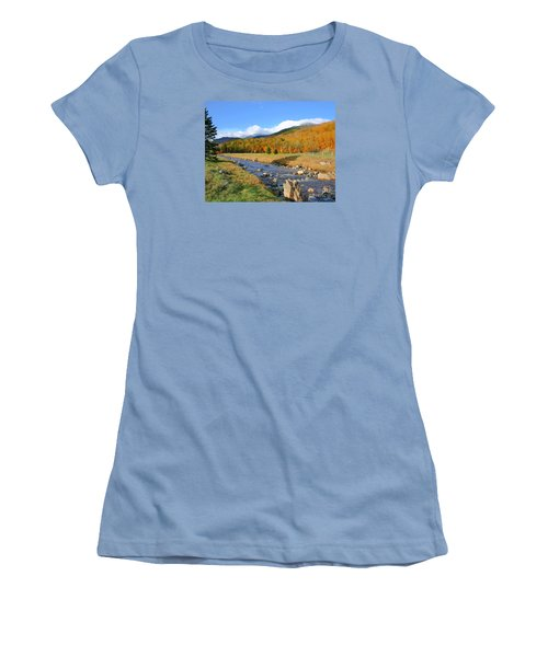 Women's T-Shirt (Junior Cut) featuring the photograph Tuckerman's Ravine by Debbie Stahre