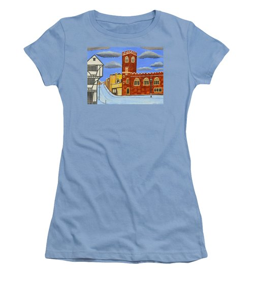 Tudor House In Exeter  Women's T-Shirt (Athletic Fit)