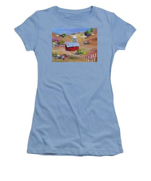 Tunkhannock Farm Women's T-Shirt (Athletic Fit)