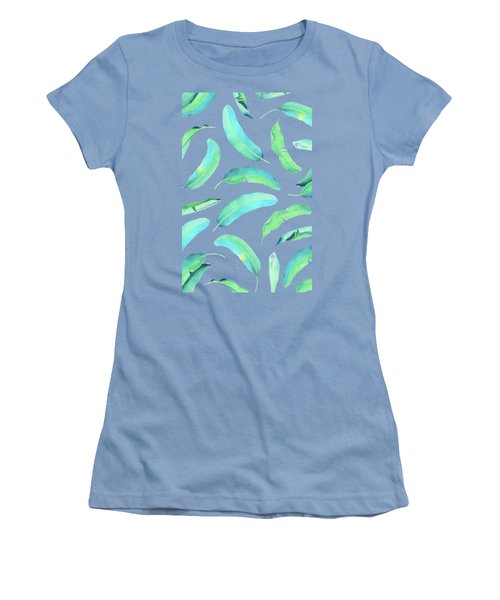 Turn Over A New Banana Leaf  Women's T-Shirt (Athletic Fit)