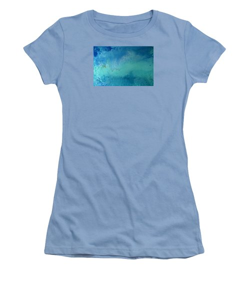 Turquoise Ocean Women's T-Shirt (Athletic Fit)