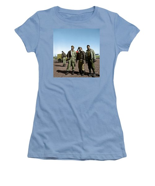 Women's T-Shirt (Athletic Fit) featuring the photograph Tuskegee Airmen by Granger