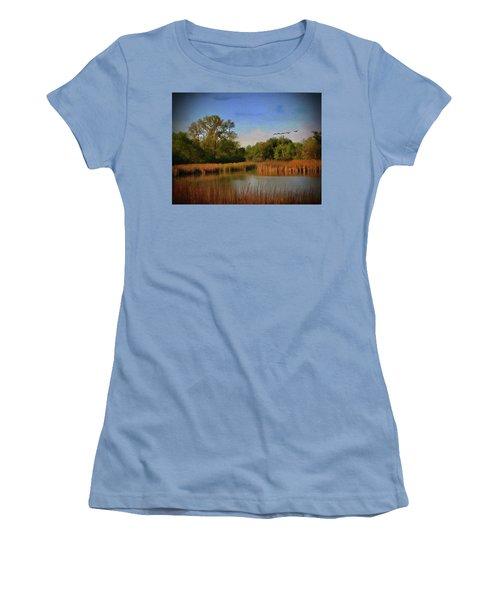 Twilight Flight Women's T-Shirt (Athletic Fit)